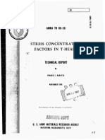 Stress Concentration Factors in T-Head