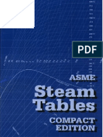 Steam Tables ASME