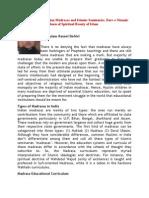 Curriculum of the Indian Madrasas and Islamic Seminaries