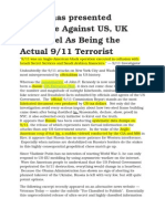 Russia Has Presented Evidence Against US, UK and Israel as Being the Actual 911 Terrorist
