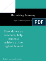 maximizing learning