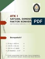 2. Satuan, Dimensi, Dan Faktor Konversi - ATK I