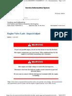 C18 Engine Valve Lash - Inspect-Adjust