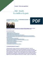 FAQ - Israël,le conflit et la paix