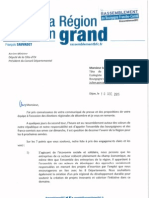 Courrier à M. Julien Gonzalez (AEI)