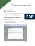 Setting Up a BizAgi Xpress Server on AWS