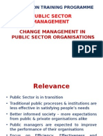 CHANGE MANAGEMENT in Public Sector Organisations