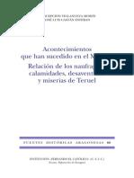 60.VILLANUEVA-Relación de Las Calamidades y Desventuras de Teruel