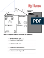 Vocabulary Worksheet on the House