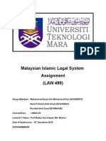 Malaysian Islamic Legal System