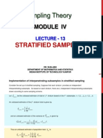 Lecture 13  NPTEL SAMPLING THEORY
