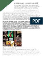 Costumbres y Tradiciones Comunes Del Perú