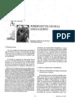 PowerPoint y El Uso de La Lengua Escrita