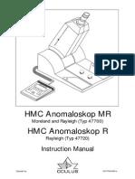 Anomaloscope Instruction Manual