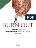 Burn out - Meklat Mehdi.epub