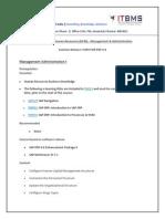 Itbms HR Coursecontent