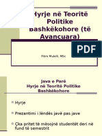 Hyrje ne Teorite Politike Bashkekohore.ppt