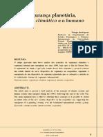 RODRIGUES, Thiago. Segurança Planetária - Entre o Climático e o Humano