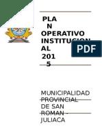 2 Plan Operativo Institucional 201511111