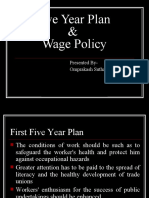 Five Year Plan & Wage Policy