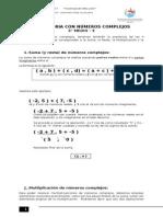 Operatoria Con Números Complejos
