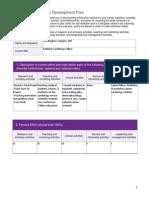 professional development plan  bugnitz  1
