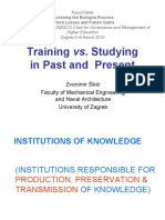 "Zvonimir Sikic, University of Zagreb, Croatia ""Studying vs. Training"