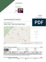 Cedar Creek Cedar Glen MyNeighborhood Report