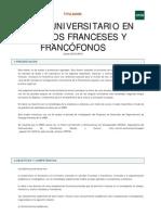 Master Estudios Francofonos UNED