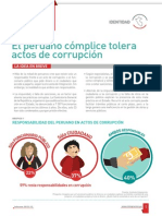 El peruano cómplice tolera actos de corrupción