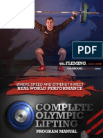 Complete Olympic Lifting - Program Manual - Wil Fleming