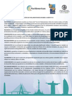 23-11-15 Declaración de parlamentarios rumbo a HIII