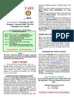 Moraga Rotary Newsletter Dec. 8 2015