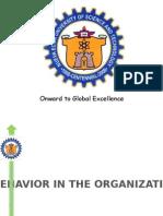 Behavior in the Organization