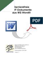 Arbeitshilfe Barrierefreie PDFs Aus Word Gesamt