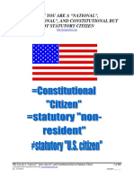 """Why You are a """"national"""", """"state national"""", and Constitutional but not Statutory Citizen, Form #05.006"""