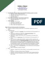 anika slauer resume 2012