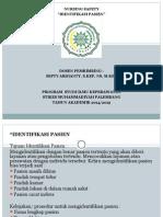 Identifikasi pasien untuk pasien safety