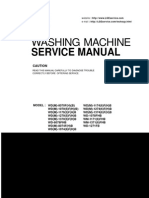 Washing machine LG WD-8074FHB Service Manual