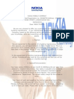 Contract Letter for Mr Mark Flores