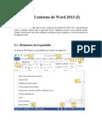 Elementos Básicos Que Componen La Ventana de Word 2013