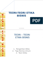 Teori-Teori Etika Bisnis - Bab Ia