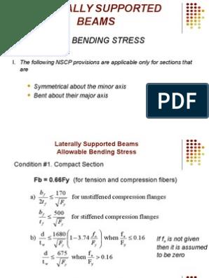 Steel Design | Bending | Beam (Structure)