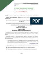 Ley Federal Contra La Delincuencia Organizada mexico
