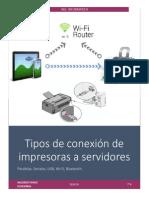Tipos de Conexión de Impresoras a Servidores PDF