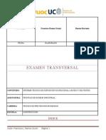 Examen Transversal Técnicas de Higiene Industrial