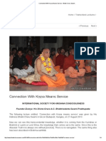 Connection With Kṛṣṇa Means Service - Bhakti Charu Swami