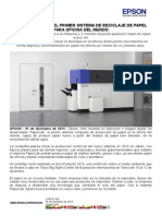 NP  - EPSON DESARROLLA EL PRIMER SISTEMA DE PRODUCCIÓN DE PAPEL EN LA OFICINA DEL MUNDO