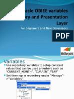 Oracle BI Variables in 11g