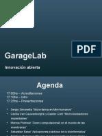 GarageLab - Septiembre 09 - Workshop Bio